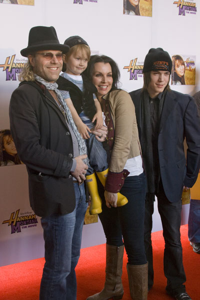 "Big Kenny of Big and Rich attends the ""Hannah Montana: The Movie"" Premier with his family."