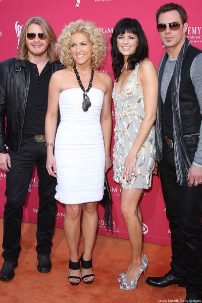 Little Big Town on the orange carpet at the ACM Awards